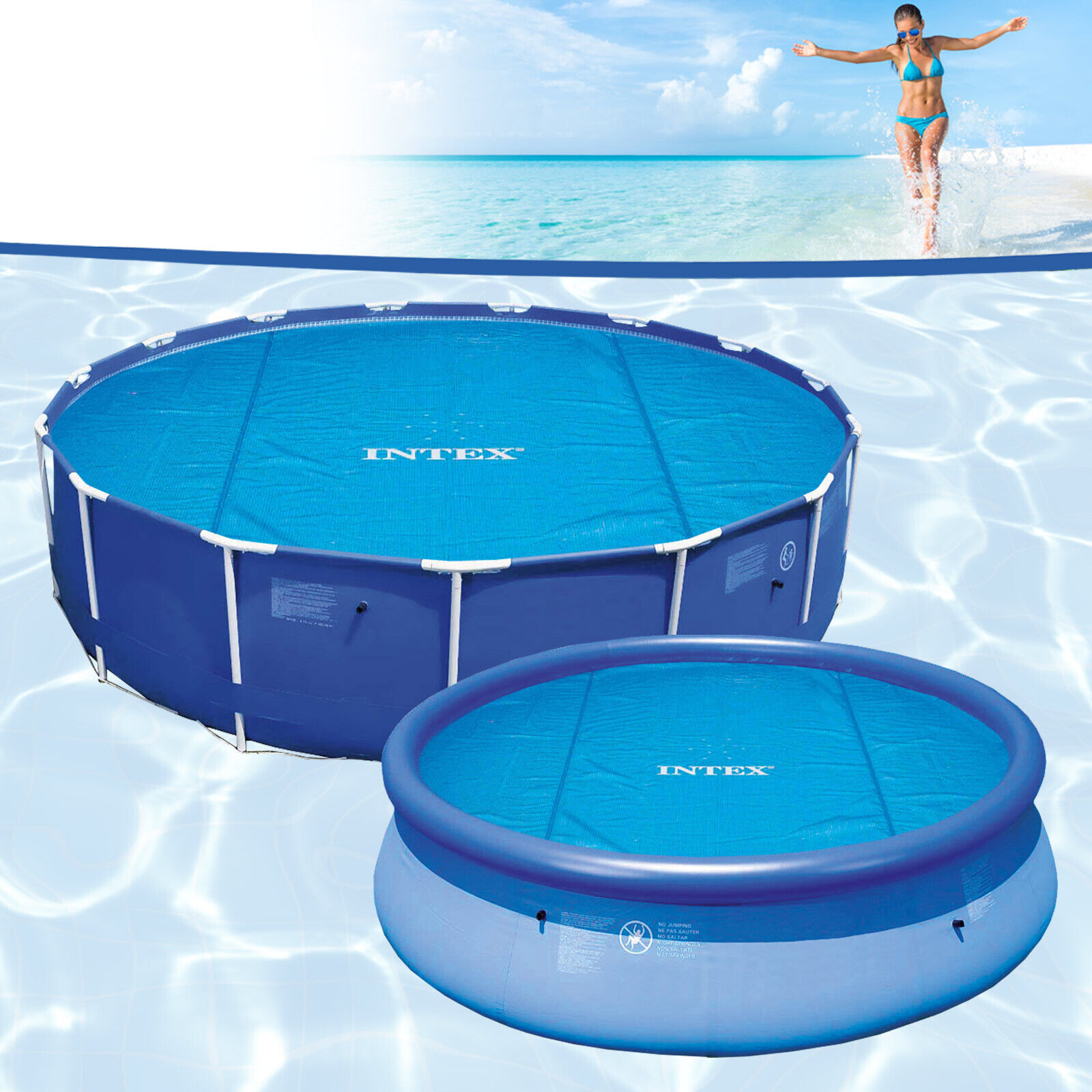 Solarfolie Pool Amazon Intex 549 Pool Solarfolie Solarplane Solarheizung Blau Poolheizung