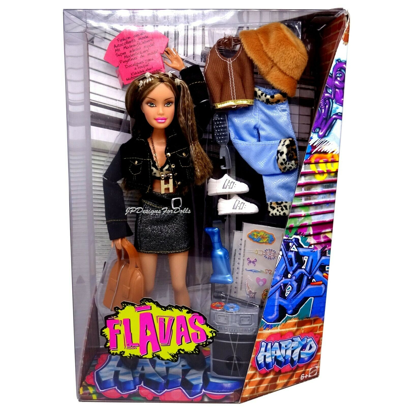 Spültischunterschrank 2003 Mattel Flavas Happy D D D Doll B With Accessories B Worn