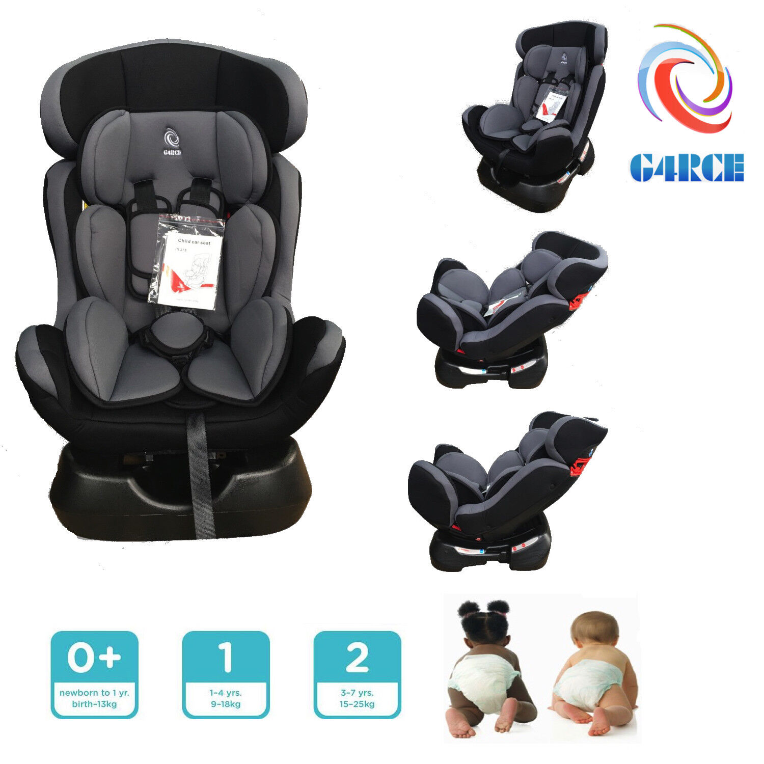 Baby Car Seat Uk Details About Kids Car Seat Group 1 2 3 In1 Convertible Baby Child Safety Booster Seat Uk