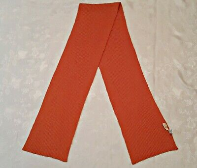 Switzerland Vintage Authentic Pur Orange Merino Wool - Silk Scarf Joop