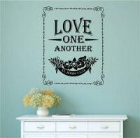Love One Another Bible Verse Vinyl Decal Wall Art Stickers ...