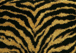 Glitter Animal Print Wallpaper Drapery Upholstery Fabric Chenille Animal Print Tiger In