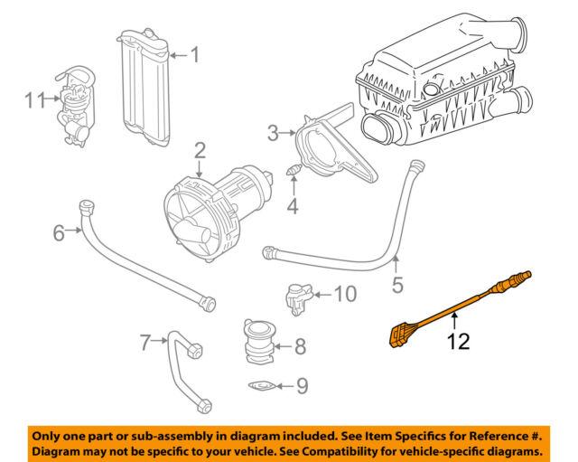 01-06 VW Beetle Golf Jetta 20l Engine Oxygen O2 Sensor Post Cat