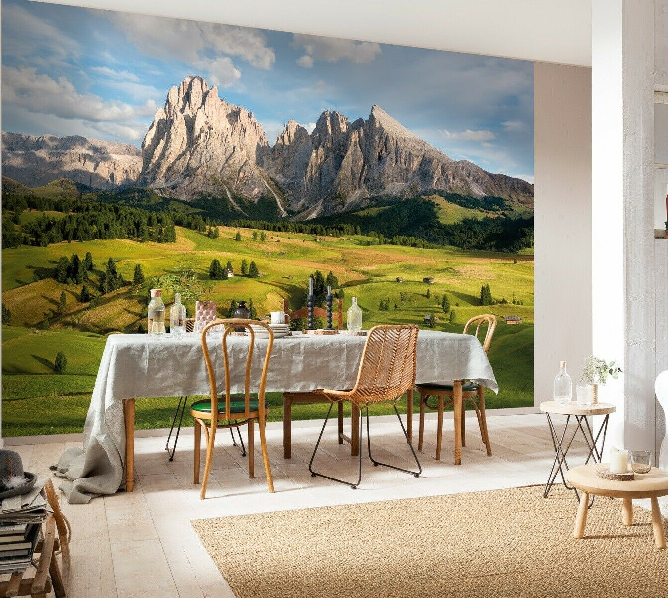 Giant Wall Mural Photo Wallpaper 366x254cm Alps Mountains Landscape Decoration