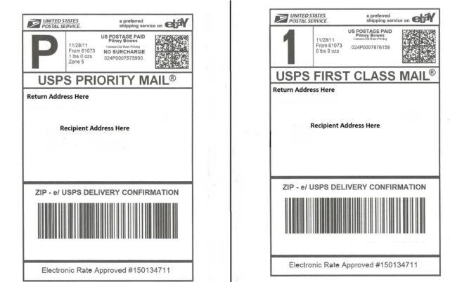 S 200 Postage Labels/ 2 Labels per Page 85x55 USPS FedEx PAYPAL