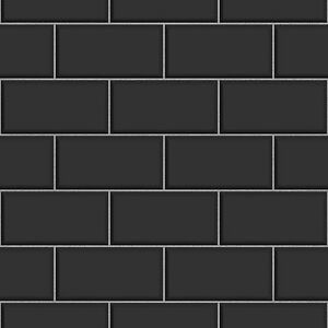 3d Brick Wallpaper Uk Ceramica Brick Tile Black Kitchen And Bathroom Wallpaper