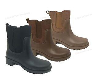 Women39s Rain Boots Rubber Elastic Waterproof Short Garden