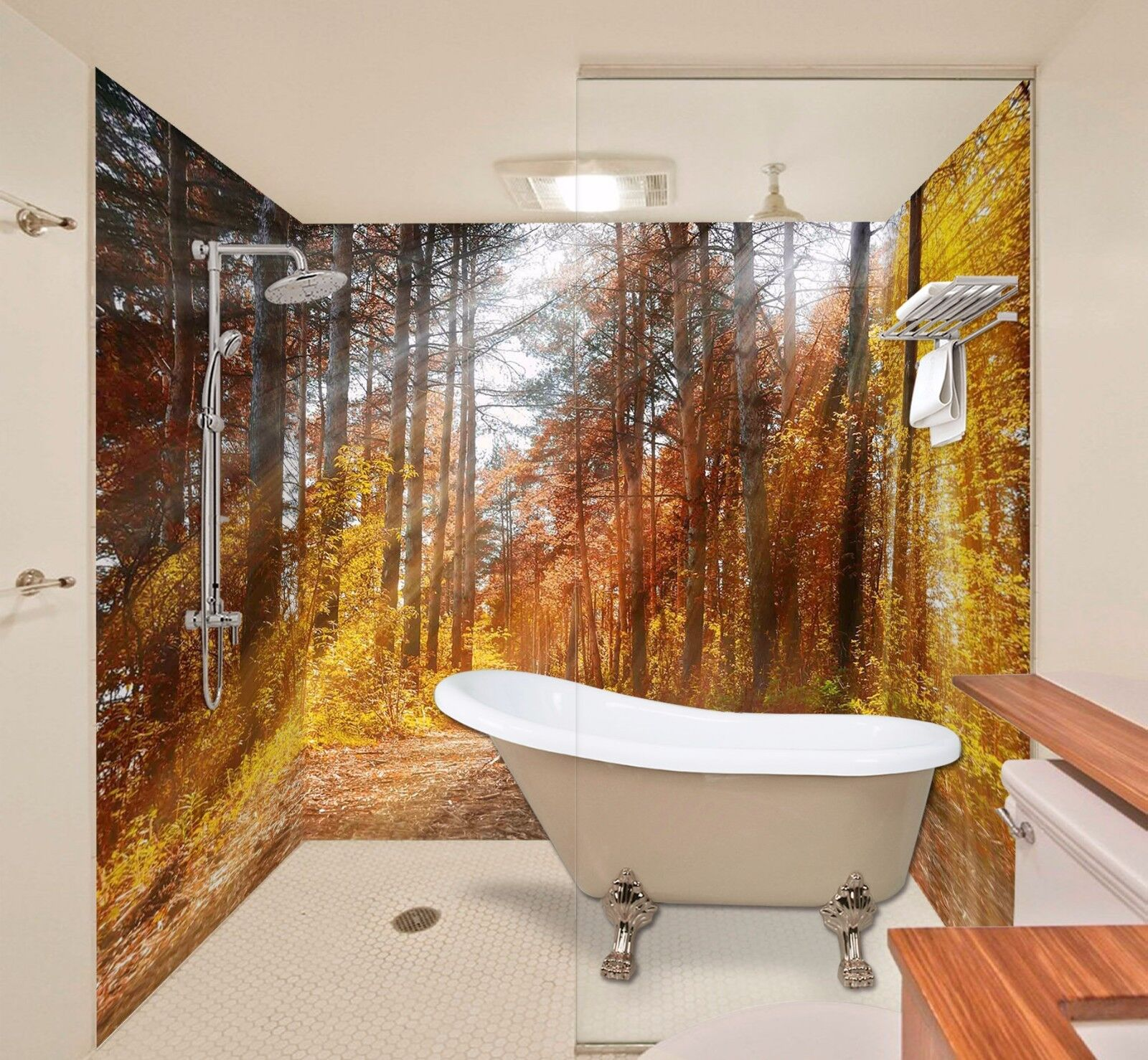 Wallpaper Murals For Bathrooms 3d Sunshine 7153 Wallpaper Bathroom Decal Wall Deco Aj Wallpaper