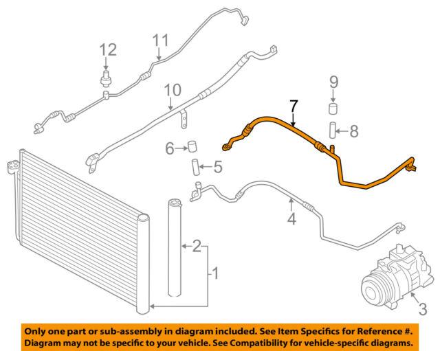 BMW OEM 12-16 528i A/C Condenser Compressor Line-AC Suction Pipe