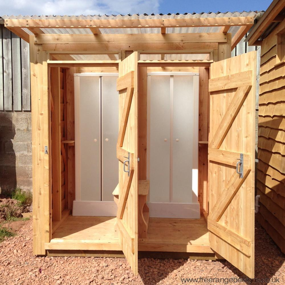 Cabine Bois Stylish Outdoor Wooden Shower Cubicle For Campsites Gardens Ebay