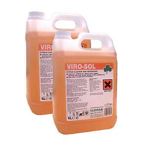 Virosol Citrus Cleaner Degreaser 2x 5 Ltrs   eBay