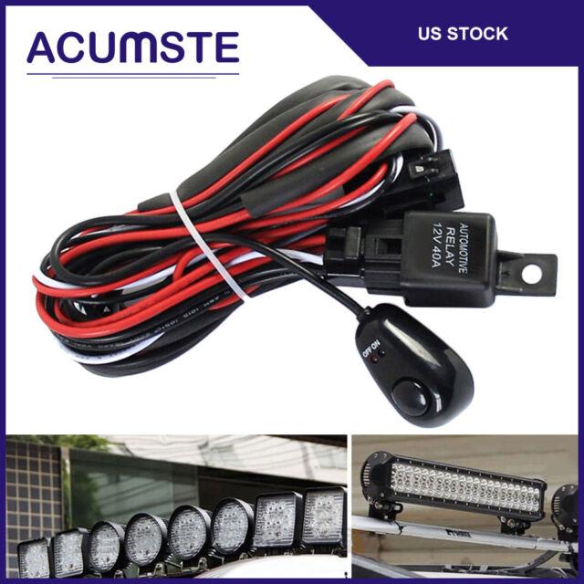 Buy Car Auto LED Work Fog Light Bar Wiring Harness Kit 40a 12v