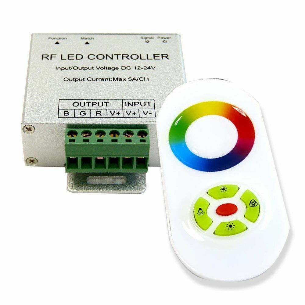 Rgb Dimmer Rgb 5050 Led Strip Touch Screen Dimmer 2 4g Rf Wireless Remote Control System Ebay
