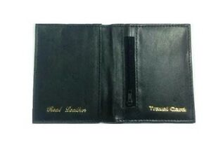 Black Leather Bus Pass Oyster Credit Card Travel Wallet