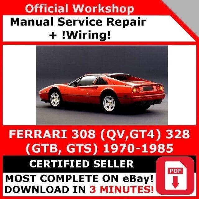 Factory Workshop Service Repair Manual Ferrari 308 QV Gt4 328 GTB