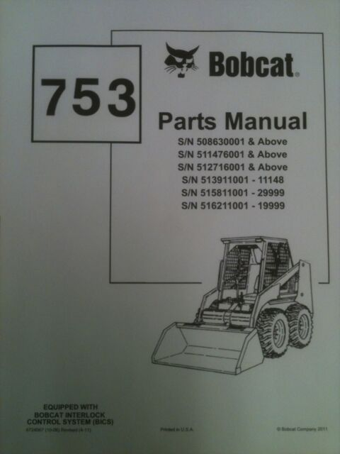 Bobcat 753 Parts Diagram Wiring Diagram