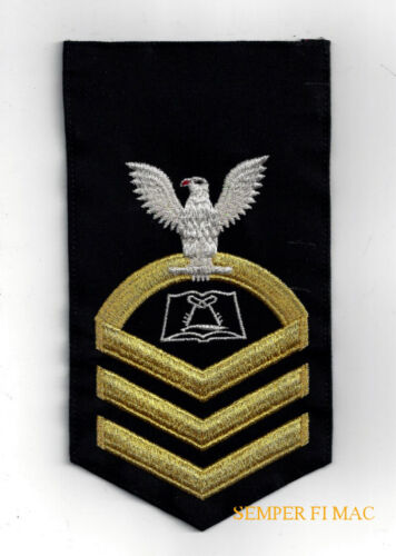 US Navy E-7 Rating Badge Culinary Specialist CS PATCH DRESS BLUE