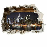 New York wall smash scenic wall sticker childrens bedroom ...