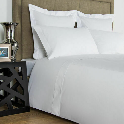 Frette Italian Luxury Bourdon White Queen Duvet Cover Made