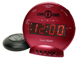 Sonic Bomb Loud Dual Alarm Clock With Vibrating Bed Shaker - Online Alarm Clock Bomb