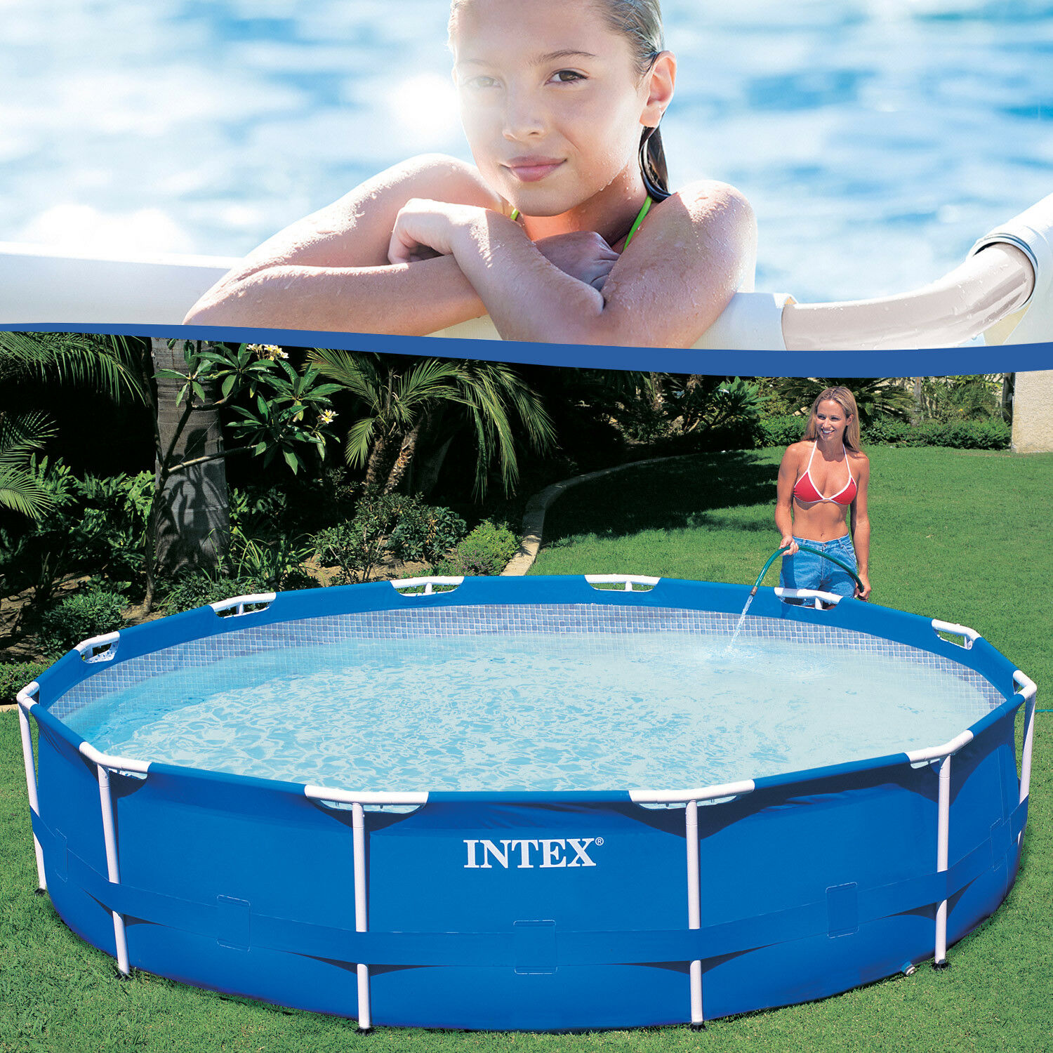 Intex Pool Reinigen Vor Winter Intex 28200 Metal Frame Swimming Pool 305x76 Cm