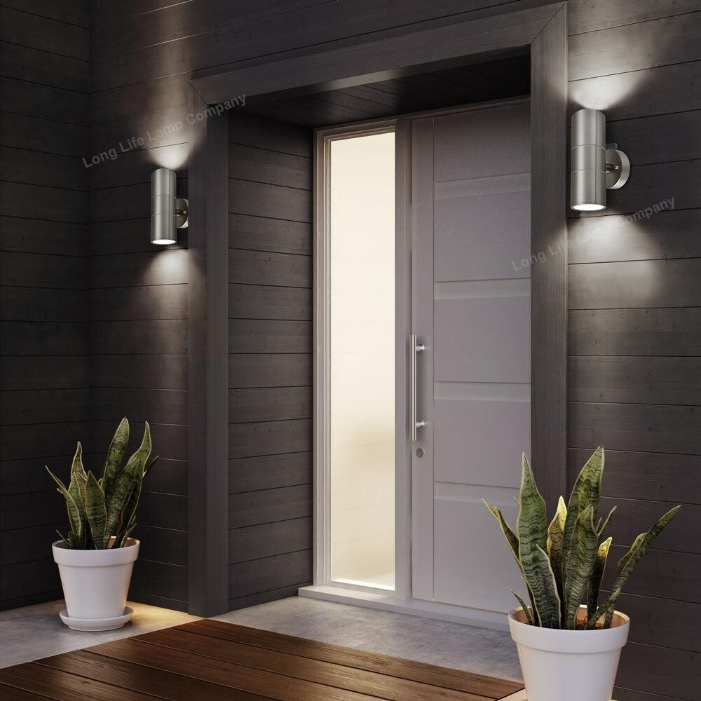 Stainless Steel Up Down Wall Light Gu10 Ip65 Double