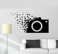 Vinyl Wall Decal Retro Camera Photographer Cubes Stickers ...
