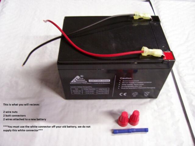 12v Battery Replacement W Kit for Power Wheels Corvette Mustang Dune