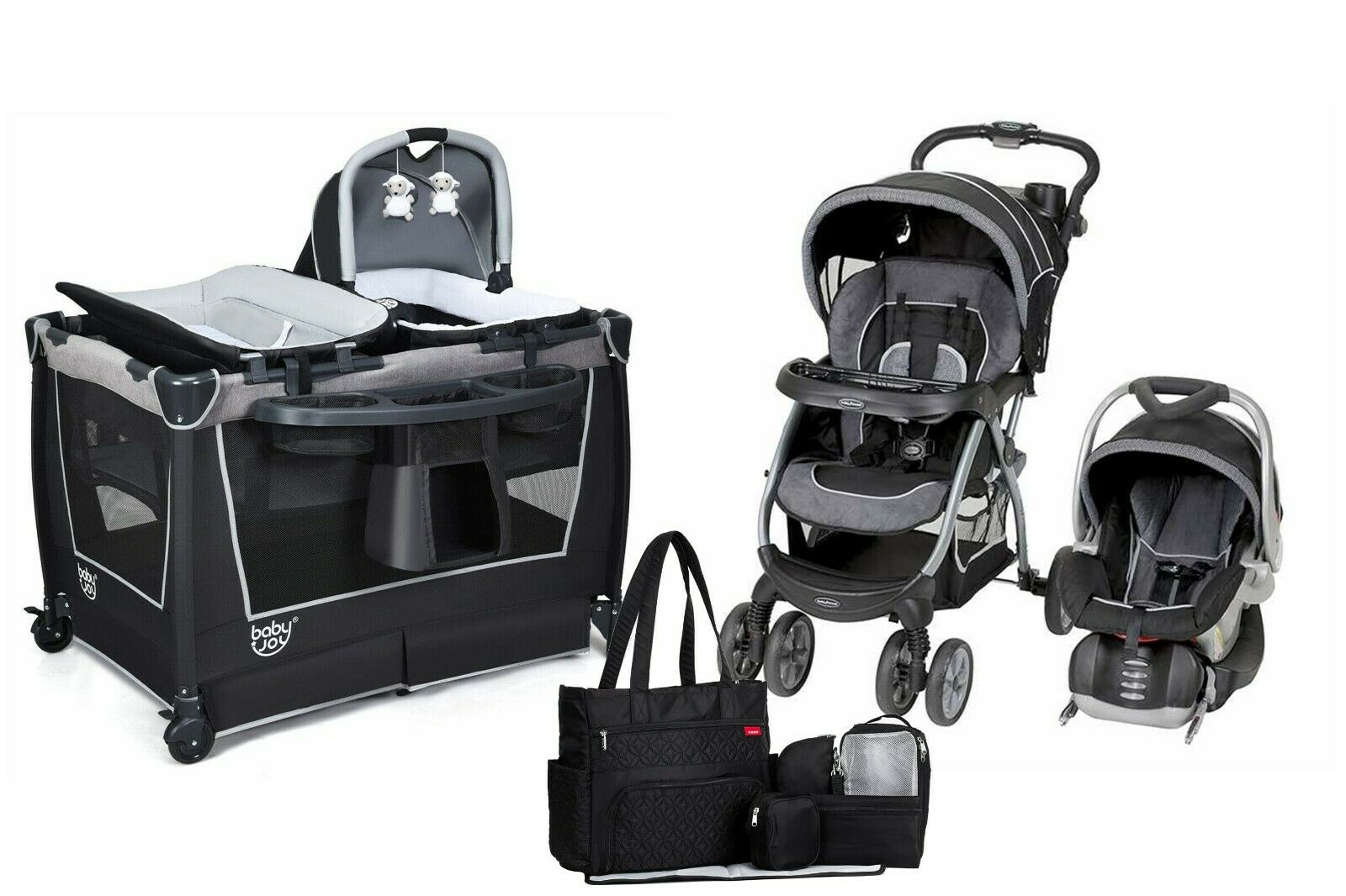 Stroller Travel System Ebay Baby Stroller Travel System Combo With Car Seat Infant Playard Diaper Bag