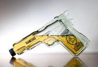 Pistol Gun Shaped Glass Tequila Bottle liquor spirits | eBay