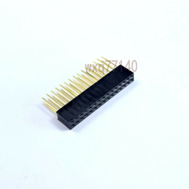 10pcs 254mm 2x15 30pin Double Row Female Stackable Straight Header