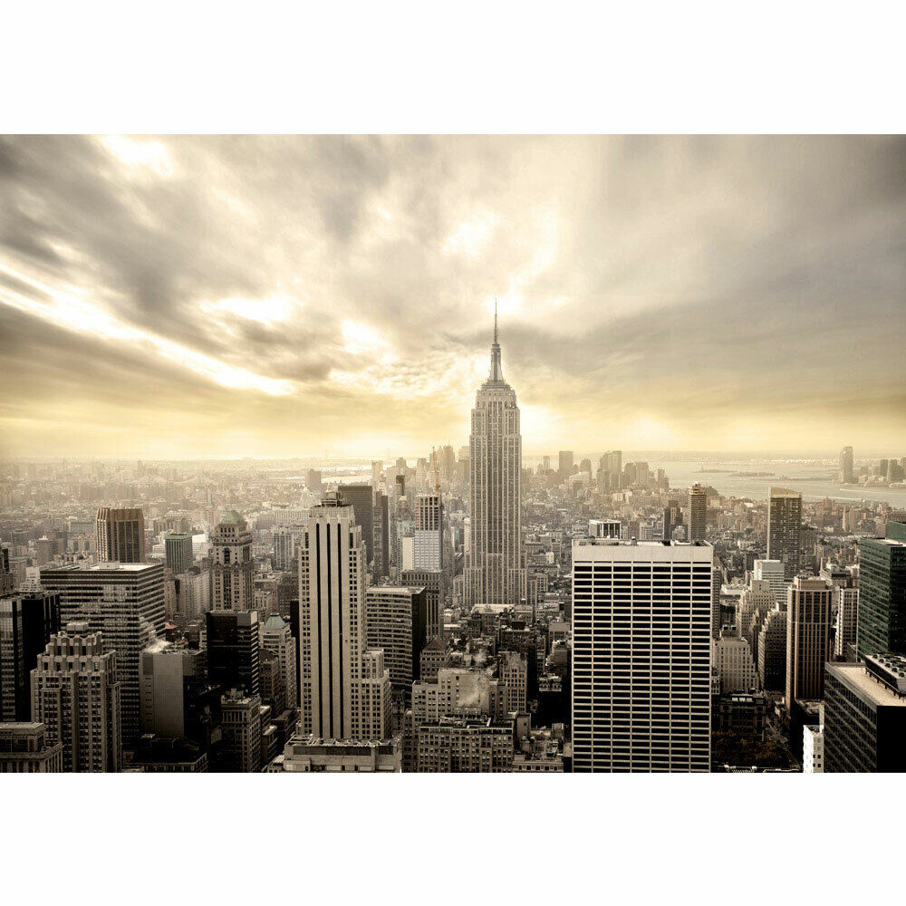 New Skyline Wandtapete Foto Mural New York Usa Skyline Sephia Empire State Building