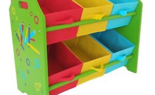 Kids Childrens Pencil Crayon 2 Tier Toy Wooden Storage