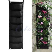 7-Pocket Outdoor Indoor Wall Balcony Herbs Vertical Garden ...