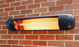 Firefly 2kw Electric Patio Heater Infrared Wall Outdoor
