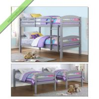 Twin Over Twin Bunk Beds for Boys Girls Kids Bunkbeds ...