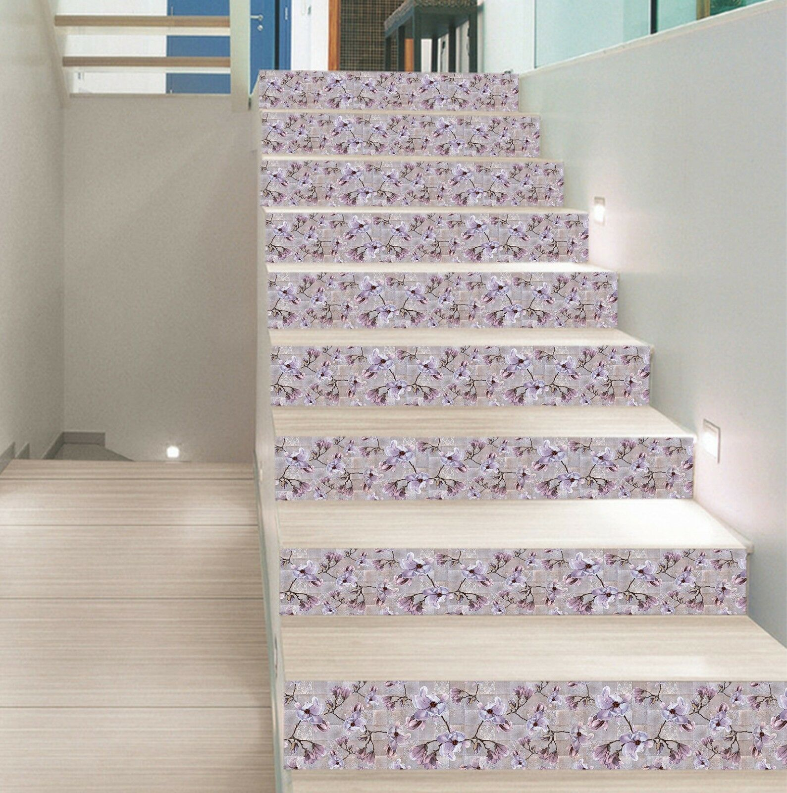 Vintage Collage Pacific Teppich 3d Purple 83 Marble Stair Risers Photo Mural Vinyl Decal Wallpaper