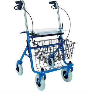 Rollator Walker With Seat Basket Folding Medical Supplies
