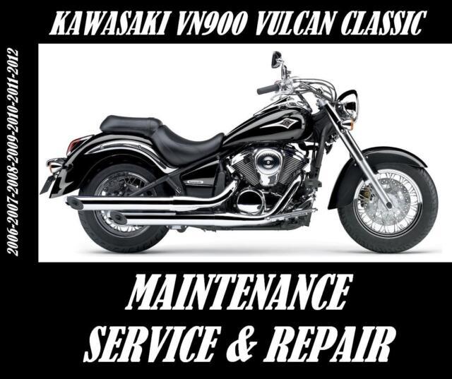 Kawasaki VN900 Vulcan Classic 900 Service Maintenance Repair Manual