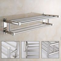 Stainless Steel Wall Mounted Towel Rack Bathroom Hotel ...