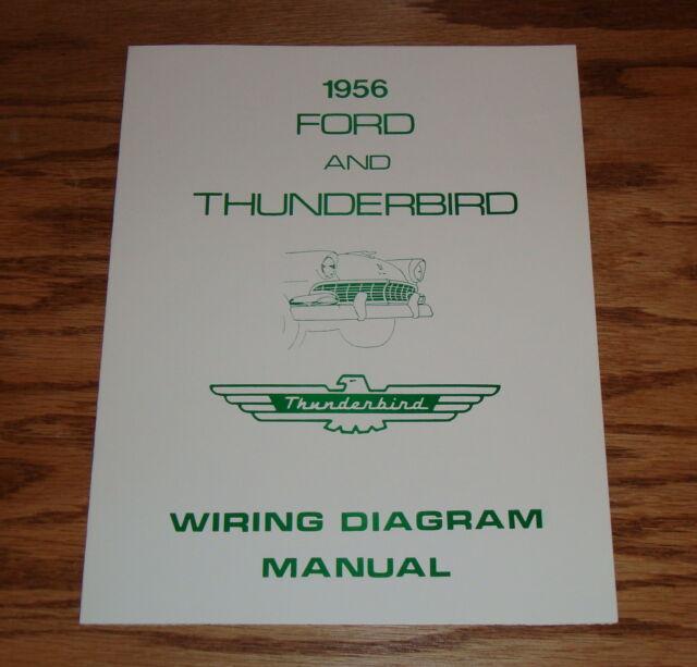 1955 Ford  Thunderbird Wiring Diagram Manual Brochure 55 eBay