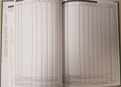 SIMPLEX VAT RECORD book accounts tax finance accounting ledger small