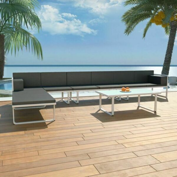 Vidaxl Garden Lounge Set Black 5 Pieces For Sale Online