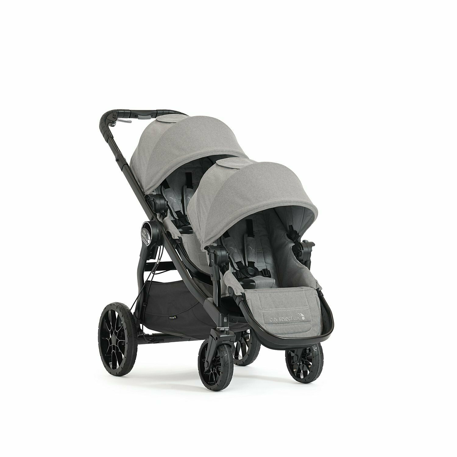 Baby Jogger City Select Baby Jogger City Select Lux Tandem Twin Double Stroller With 2nd Seat Slate
