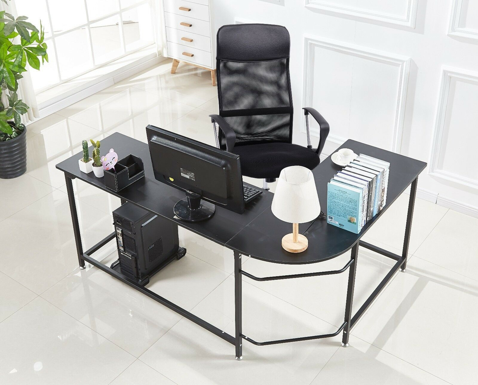 Computer Gaming Desk Details About L Shaped Corner Desk Computer Gaming Desk Pc Table Home Office Workstation Small
