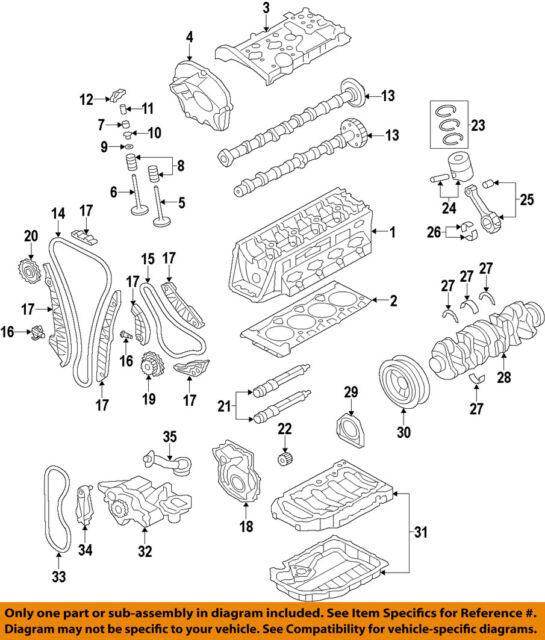 VW VOLKSWAGEN OEM 09-15 CC-Engine Crankshaft Crank Main Bearing
