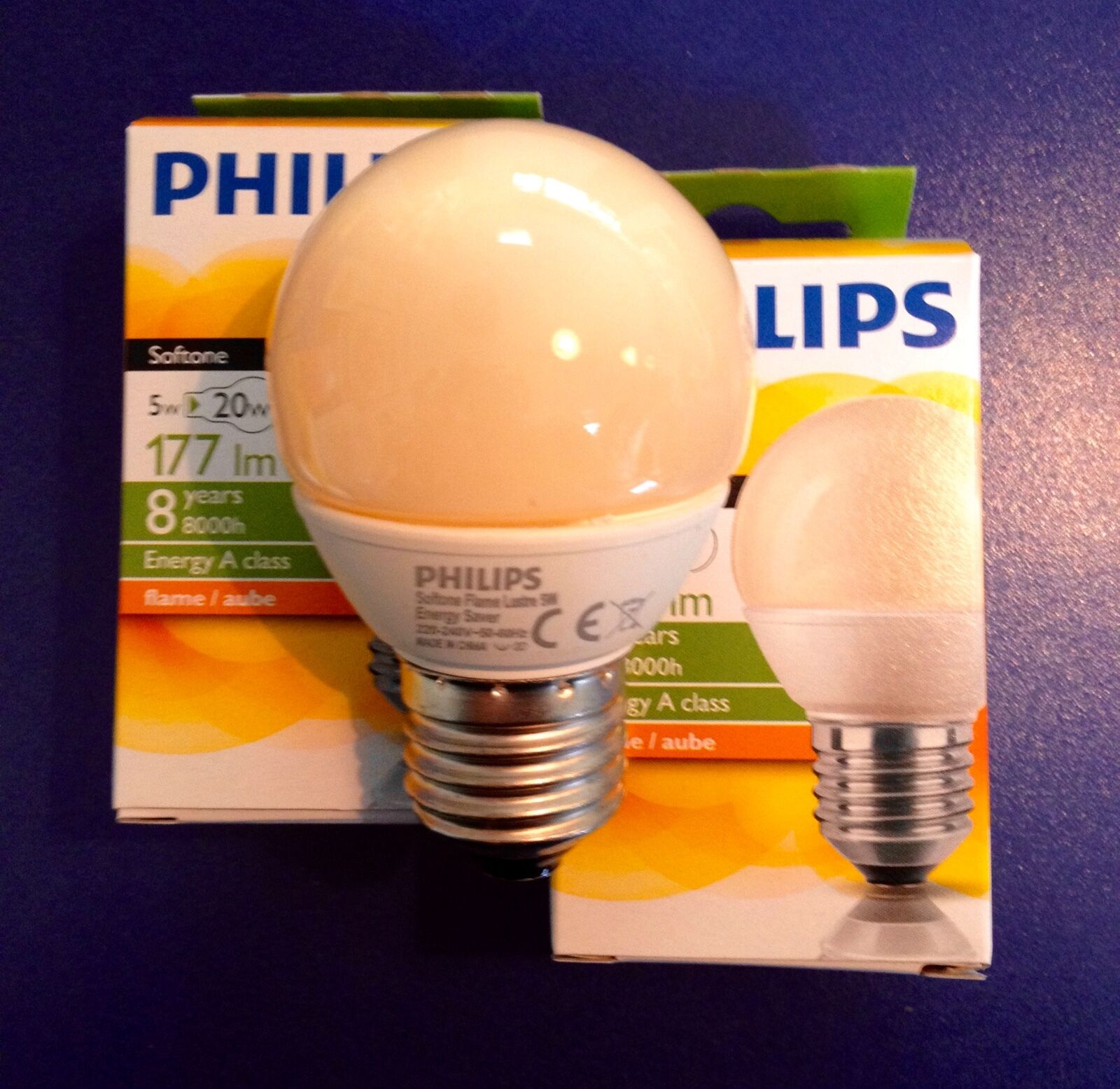 Philips Softone Flame Philips Energy Softone Flame Energy Saving Lamp In Drop Shaped E27 5w