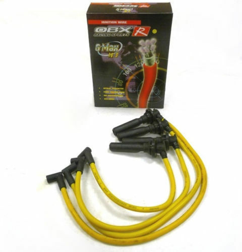 OBX Yellow Spark Plug Wires For 91 92 93 94 95 96 97 98 99 Saturn