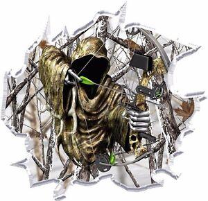 Girl Holding Money Wallpaper Ripped Winter Camo Grim Reaper Bow Hunter Hood Vinyl
