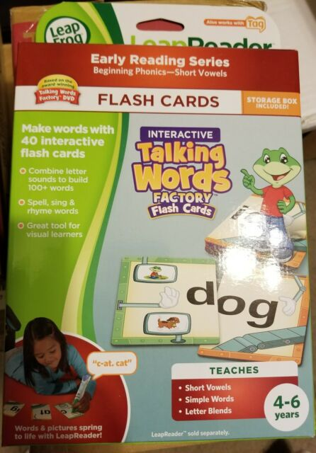 LeapFrog Tag LeapReader Interactive Talking Words Factory Flash - flash cards words